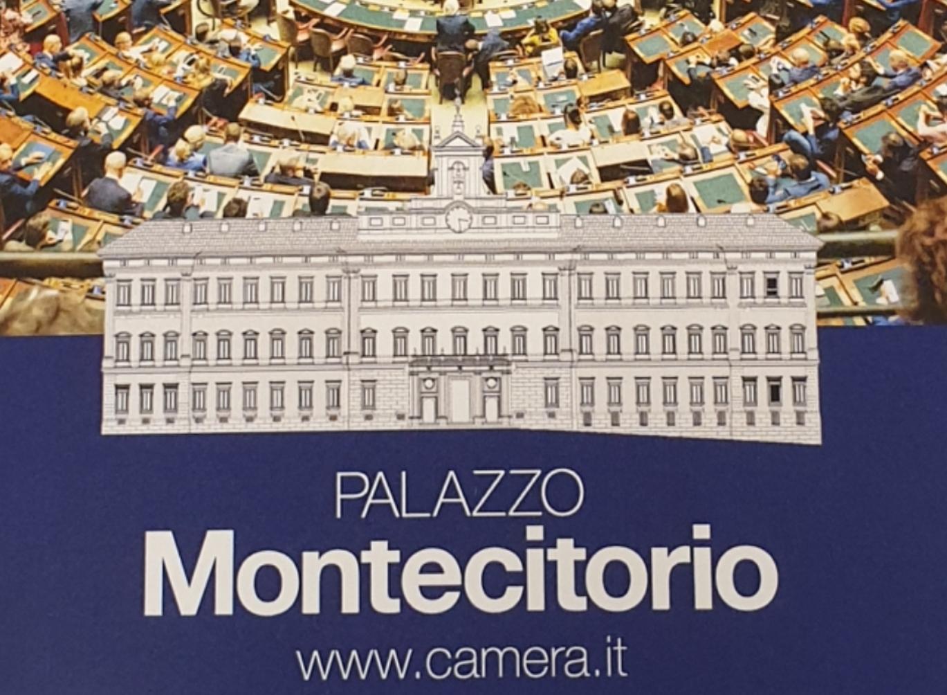 Depliant illustrativo di Palazzo Montecitorio